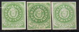 ARGENTINA : G150  -  1862   3 X 10c. No Gum ; ALL Forgeries - Argentina
