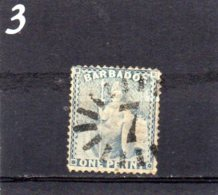 1873 1d Used - Barbados (...-1966)