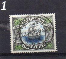 1906 Tercentenary 1d Used - Barbados (...-1966)