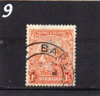 1925 Postage & Revenue 1 1/2d Used - Barbados (...-1966)