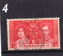 1937 Coronation 1d Used - Barbados (...-1966)