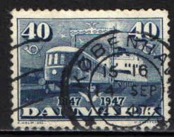 DANIMARCA - 1947 - CENTENARIO DELLE FERROVIE DANESI - USATO - 1913-47 (Christian X)