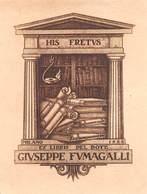 """07696 """"HIS FRETUS - EX LIBRIS DEL DOTT. GIUSEPPE FUMAGALLI - MILANO 1928"""" ORIG. - Ex Libris"""