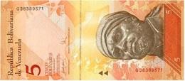 Venezuela 5 Bolívares 24-5-2007 Pick 89b UNC - Venezuela