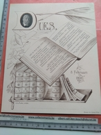 Menukaart Met Foto, 1909 Eerste Uitgave VERWIJS En VERDAM Woordenboek - Litho V Muder, LEIDEN 23cmX18cm - Dictionnaires