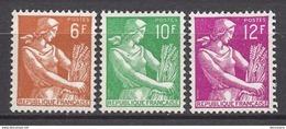 FRANCE 1957 -  SERIE Y.T. N° 1115 A 1116  - 3 TP NEUFS** - France
