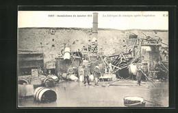 AK Ivry, Hochwasser 1910, Essigfabrik Nach Der Explosion - Inondations