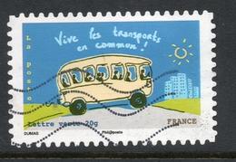 2014 Vive Les Transports En Commun!  Valeur Faciale 0,61 € Timbre Oblitéré. France Ensemble, Agissons Pour Préserver Le - France