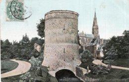 """CPA  59   VALENCIENNES---TOUR DE LA DODENNE---1907---TAMPON VIOLET """" LOBERT HENRI """" - Valenciennes"""
