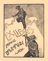"07700 ""EX LIBRIS FRANZ BAUMANN - WIEN"" ORIG. - Ex Libris"
