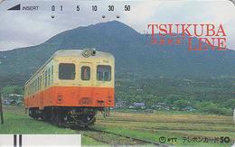 TC Ancienne Japon / NTT 250-039 - TRAIN / Tsukuba Line - Japan Front Bar Phonecard - ZUG Balken TK - Trains