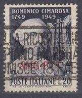 TRIESTE ZONA A - 1949 -  Yvert 65 Usato. - 7. Trieste