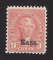 US #667 1929 Light Rose Perf 11x10.5 Unwmk MNH F-VF SCV $30 - United States