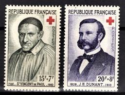 FRANCE 1958 - SERIE Y.T. N° 1187 Et 1188  - 2 TP NEUFS** /1 - France