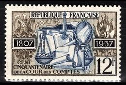 FRANCE 1957 -  Y.T. N° 1107 - NEUF**/4 - France