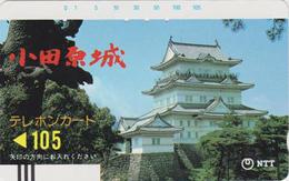 TC Ancienne Japon / NTT 250-046 - Paysage Religion Pagode - Castle Japan Front Bar Phonecard - Balken Telefonkarte - Japon