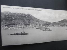 AK VATHY SAMOS Klappkarte Flotte Ottomane Ca.1910 ///  D*36986 - Griechenland