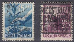 TRIESTE ZONA A - 1950 - Serie Completa Di Due Valori Usati: Yvert 83A E 83B. - 7. Triest