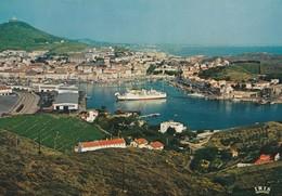"""Port Vendres Vue Générale Du Port Accostage Du Paquebot """"Aznar"""", Courrier Des Baléares - Port Vendres"""