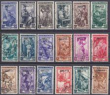 TRIESTE ZONA A - 1950 - Lotto Di 18 Valori Usati: Yvert 84/101. - 7. Triest