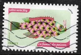 2014 Le Fumet Du Poisson Valeur Faciale 0,61 € Timbre Autoadhésif Oblitéré. En France. Les Sens - L'odorat - France