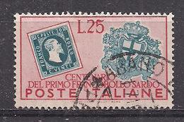 ITALIA    1951  CENTENARIO SARDEGNA SASS. 673 USATO VF - 1946-.. République