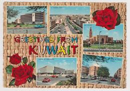 1378/ KUWAIT Greentings.- Voitures Cars Macchine Coches Autos.- Non écrite. Unused. Non Scritta. No Escrita.. - Koweït