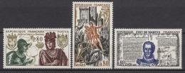 FRANCE 1969 -  SERIE Y.T. N° 1616 A 1618 - 3 TP NEUFS** - France