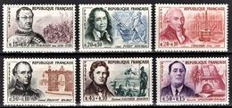 FRANCE 1961 - SERIE Y.T. N° 1295 A 1300 - 6 TP NEUFS** - France