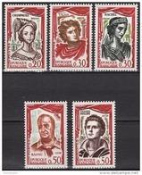 FRANCE 1961 - SERIE Y.T. N° 1301 A 1305  - 5 TP NEUFS** - France