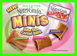 PUBLICITÉ, ADVERTISING - KELLOGG'S NUTRI-GRAIN, MINIS BITE SIZE CEREAL BARS ! - - Publicité