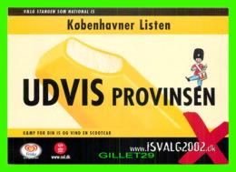 PUBLICITÉ, ADVERTISING - KOBENHAVNER LISTEN - UDVIS PROVINSEN, 2002 - GO-CARD No 6127 - - Publicité
