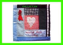 PUBLICITÉ, ADVERTISING - QUILT FOR WORLD AIDS DAY BY FIONA-ANNE PORTER - BOOMERANG - - Publicité