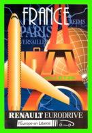 PUBLICITÉ, ADVERTISING - VOITURE RENAULT EURODRIVE - LA VOITURE DE VOTRE VOYAGE - - Publicité
