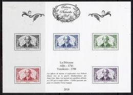 """FRANCE 2018 / BS43 """"TRESORS DE LA PHILATELIE-La Pérouse"""" 5ème ENSEMBLE DE 10 BF / NEUF RARE.. - Blocs & Feuillets"""
