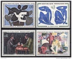 FRANCE 1961 -  SERIE Y.T. N° 1319 A 1322  - 4 TP NEUFS** - France