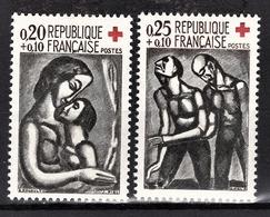 FRANCE 1961 -  SERIE Y.T. N° 1323  / 1324 - 2 TP NEUFS** - France