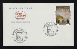 """2018 ITALIA REPUBBLICA """"CENTENARIO VITTORIA GRANDE GUERRA"""" FDC CAVALLINO (ANN. CORTONA) - 6. 1946-.. Repubblica"""