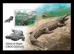 Angola 2018 Mih. 1945 (Bl.154) Fauna. Crocodiles MNH ** - Angola