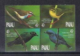 Palau Viererblock MiNr. 347-50 Postfrisch MNH Vögel (Vög2127 - Palau