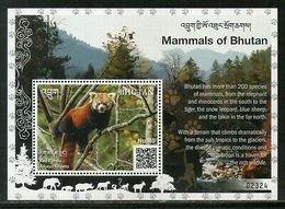 Bhutan 2019 Red Panda Wildlife Animals Species Of Mammals M/s MNH # 5306 - Bhutan