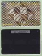"""Tonga - 1995 Second Issue - Textures - $$10 White & Brown  - TON-5 - """"2CTGB"""" - VFU - Tonga"""