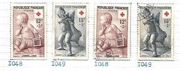 France 1955  Croix Rouge  Yt N° 1048 , 1049    Oblitérés Et Neufs - France
