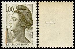 France Liberté De Gandon N° 2185 C ** Le 1.00 Fr Olive-foncé. Sans Phosphore, Gomme Mate (Variété) - 1982-90 Liberté De Gandon