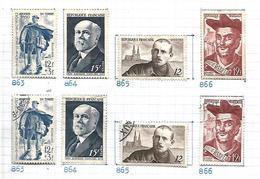France 1950    Yt N° 863,, 864, 865, 866   Oblitérés Et Neufs - France