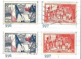 France 1954    Yt N° 995 à 998    Oblitérés Et Neufs - France