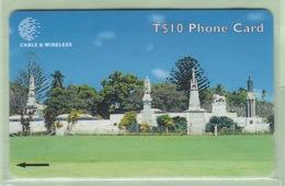 """Tonga - 1999 Third Issue - Royal History - $10 Royal Tombs  - TON-8 - """"323CTDC"""" - VFU - Tonga"""