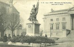 64  PAU - MONUMENT DES BAS PYRENEENS MORTS POUR LA PATRIE (ref 5247) - Pau