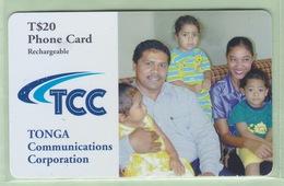Tonga - TCC Prepaid - 2001 Family - $20 Family - VFU - Tonga