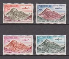 ANDORRE Poste Aérienne N° 5  à  8  Neuf ** Sans Charniére ;Vallée D' Inclès à Soldeu . Avion Caravelle - Poste Aérienne
